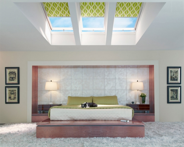 10 amazing bedrooms with skylights adorable home for Bedroom skylight