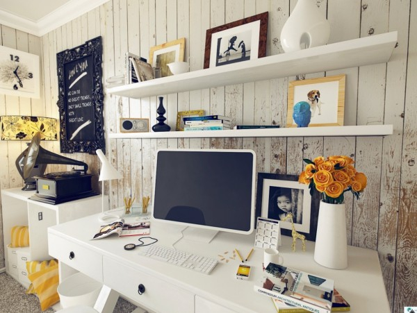 fresh home office design ideas perfect for your business  (1)