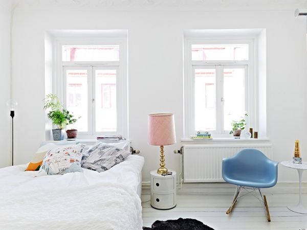 A beautiful white apartment made in heaven (4)