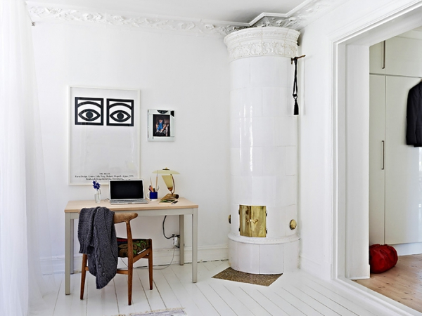 A beautiful white apartment made in heaven (5)