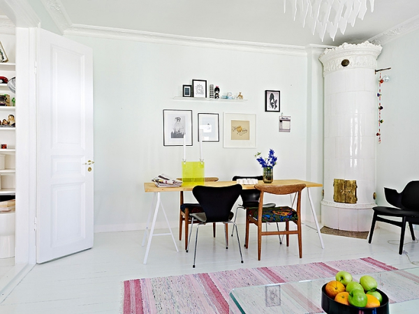 A beautiful white apartment made in heaven (7)