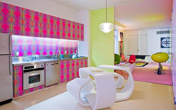 Colorful interior in nyc 1