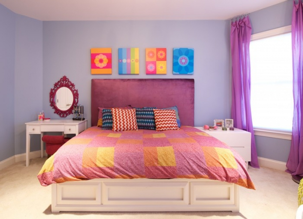Nice A Colorful Bedroom For Your Sassy Teenager