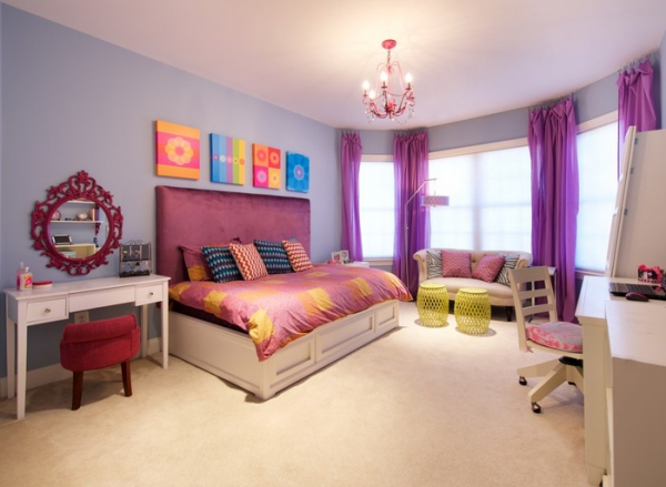 A Colorful Bedroom For Your Sassy Teenager