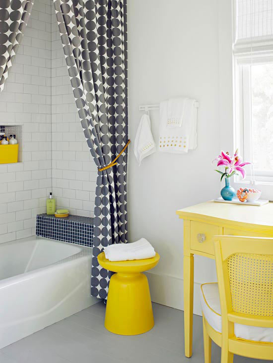 A few fabulous cottage decorating ideas adorable home for Bathroom ideas yellow tile