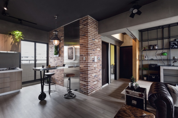 Stylish Bachelor Pad Industrial Style Apartment Adorable Home