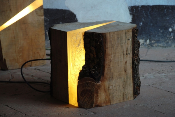 A Wood Lamp That S Raw And Refined Adorable Home
