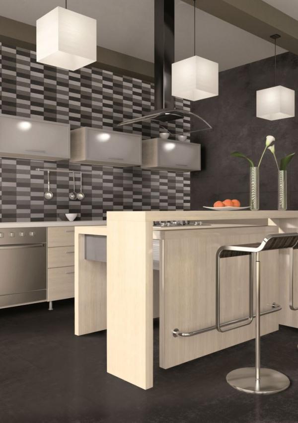 Marvelous White Brick Kitchen Tiles #   1: Marvelous White Brick Kitchen Tiles Ideas