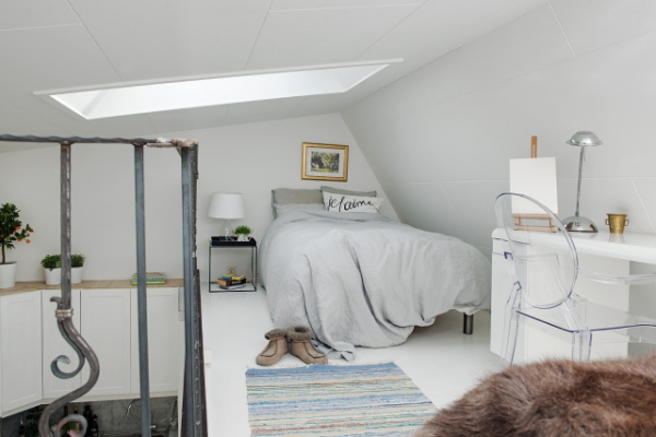Adorable loft in Sweden (11)