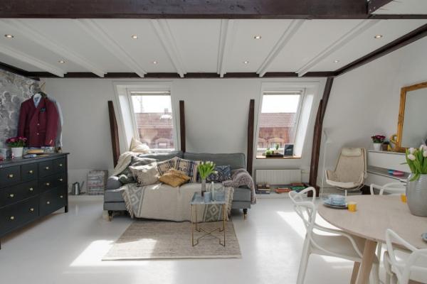 Adorable loft in Sweden (3)
