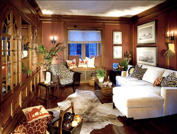 African Themed Living Rooms: Beauty And Style