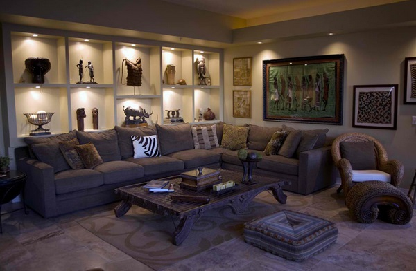 African themed living rooms beauty and style adorable home - Awesome pictures living room decorating ideas ...