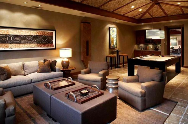Wonderful African Themed Living Rooms 9