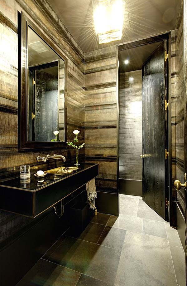 ... Alluring Dark Bathroom Designs (11) ...