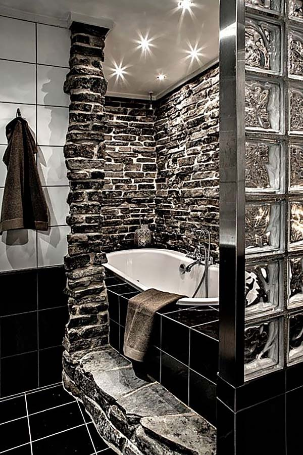 ... Alluring Dark Bathroom Designs (25) ...