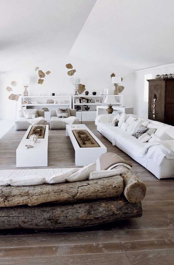 Always An Exquisite Combination White And Wood 1
