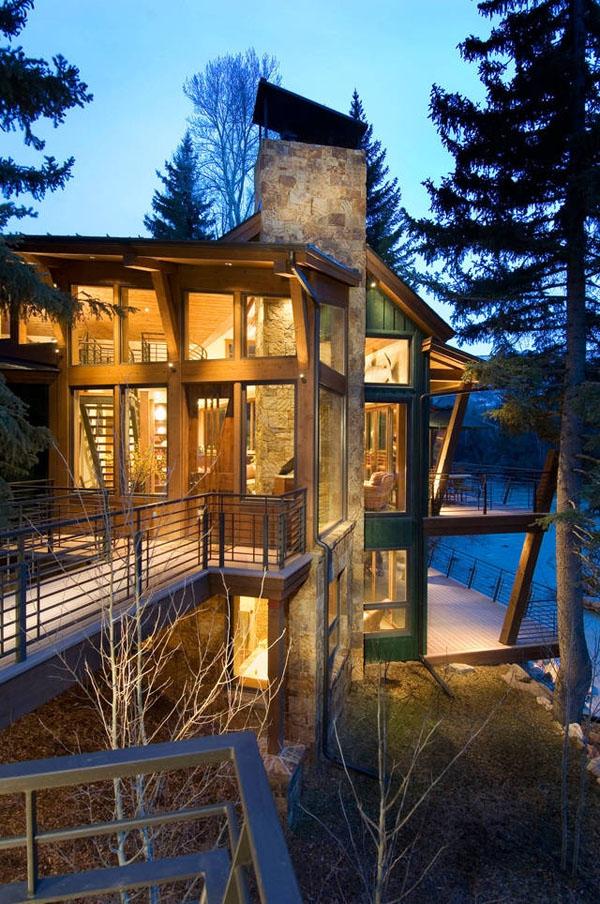 Amazing riverside house Colorado (3)