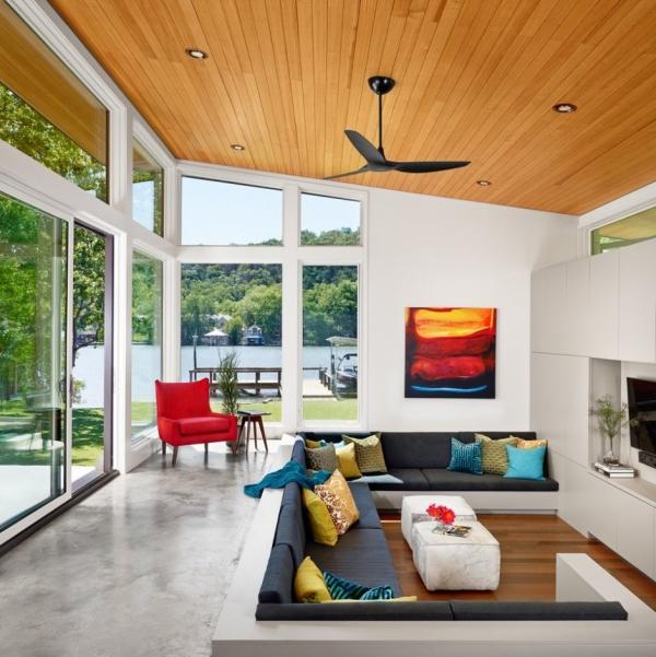 American modern lake house  (5)