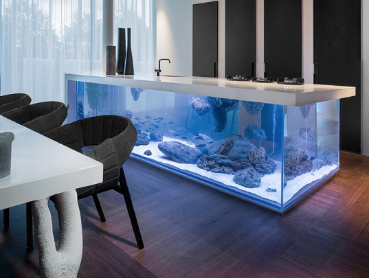 An aquarium kitchen island that makes a splash (1)