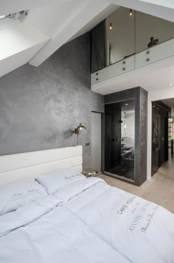 Attic apartment design ideas in Prague (11)
