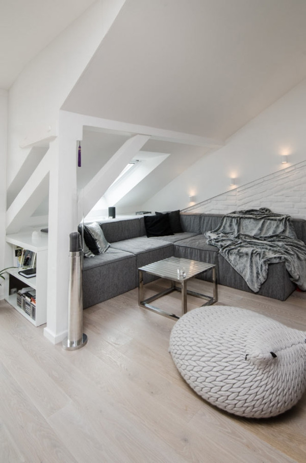 Attic apartment design ideas in Prague (3)