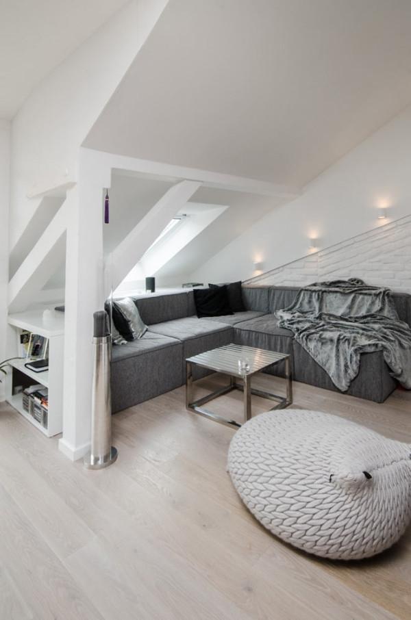 Attic Apartment Design Ideas In Prague – Adorable Home