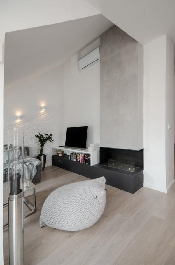 Attic apartment design ideas in Prague (4)