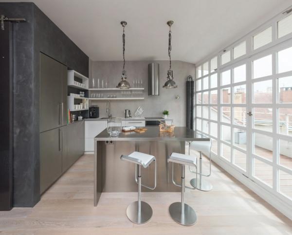 Attic apartment design ideas in Prague (6)