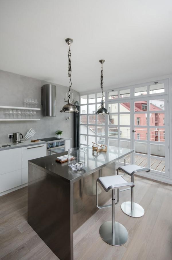 Attic apartment design ideas in Prague (7)