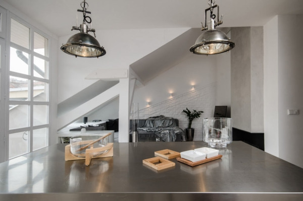 Attic apartment design ideas in Prague (8)