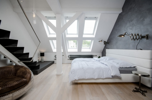 Attic apartment design ideas in Prague (9)