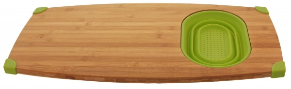 Superbe Bamboo Over Sink Cutting Board And Colander