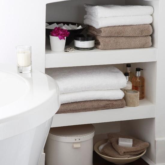Ideas For Bathroom Storage In Small Bathrooms: Bathroom Shelving Ideas