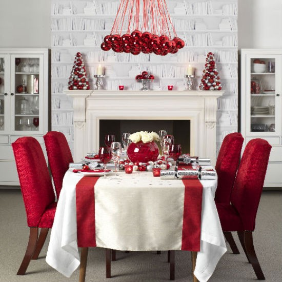 Holiday Home Design Ideas: Beautiful Christmas Table Decorations