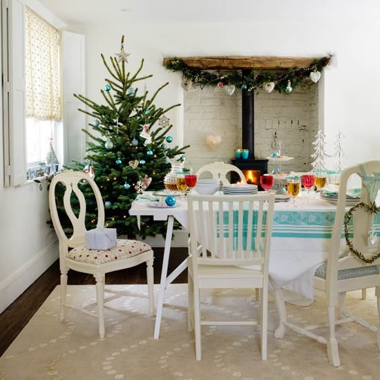 Beautiful christmas table decorations adorable home Christmas decorating ideas kitchen table