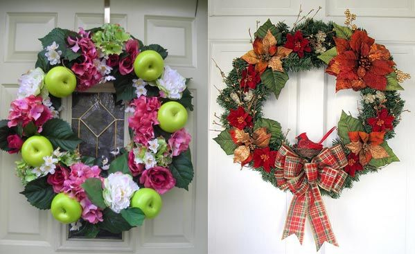 beautiful-christmas-wreaths-for-the-front-door-5