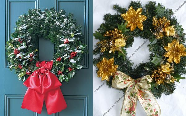 Beautiful Front Door Christmas Wreaths Images