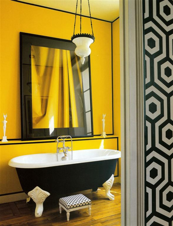 Beautiful yellow bathroom designs (1)