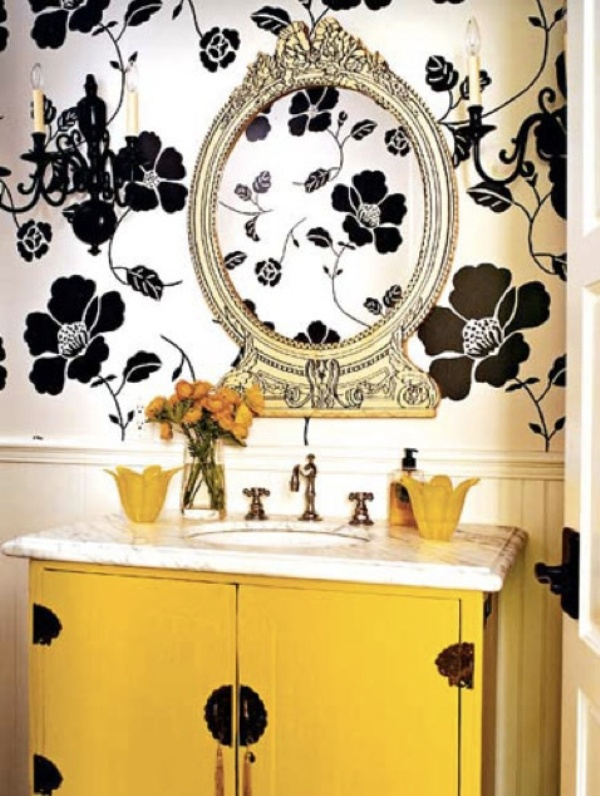 Beautiful yellow bathroom designs (10)