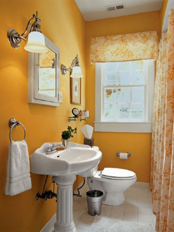Beautiful yellow bathroom designs (11)