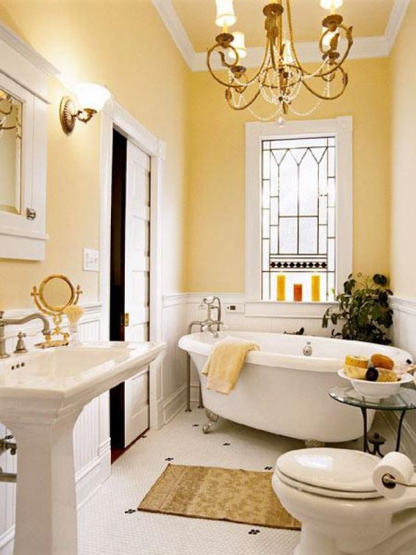 Beautiful yellow bathroom designs (13)