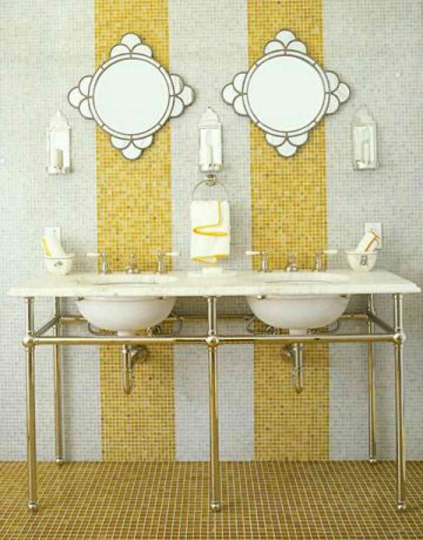 Beautiful yellow bathroom designs (14)