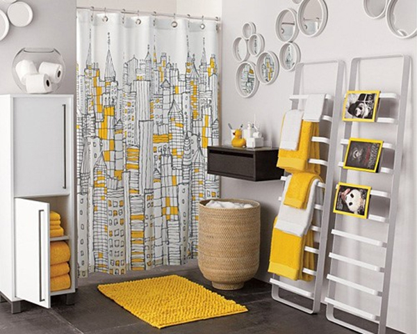 Beautiful yellow bathroom designs (15)