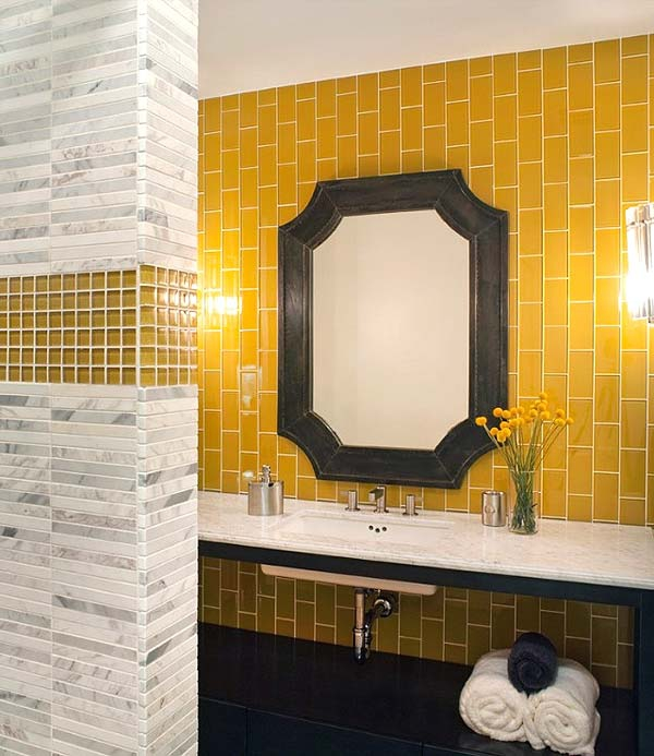 Beautiful yellow bathroom designs (16)