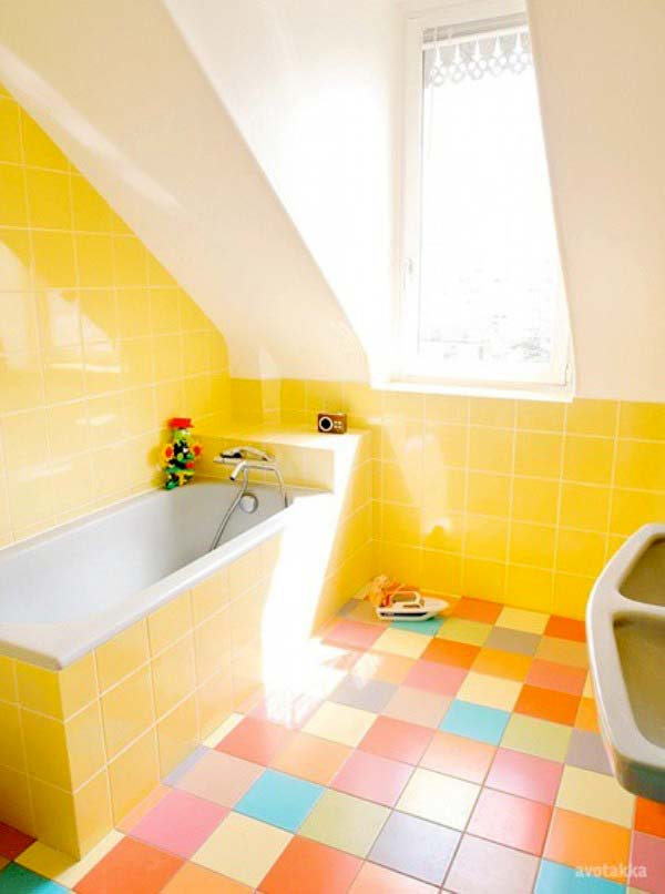 Beautiful yellow bathroom designs (17)
