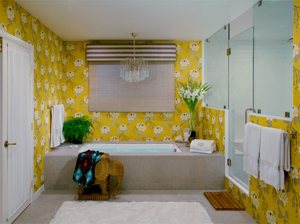 Beautiful yellow bathroom designs (2)