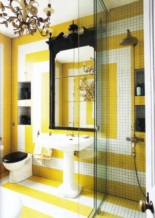 Beautiful yellow bathroom designs (4)