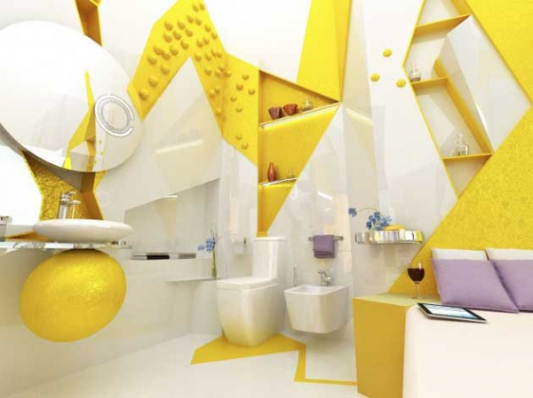 Beautiful yellow bathroom designs (5)