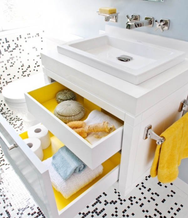 Beautiful yellow bathroom designs (7)