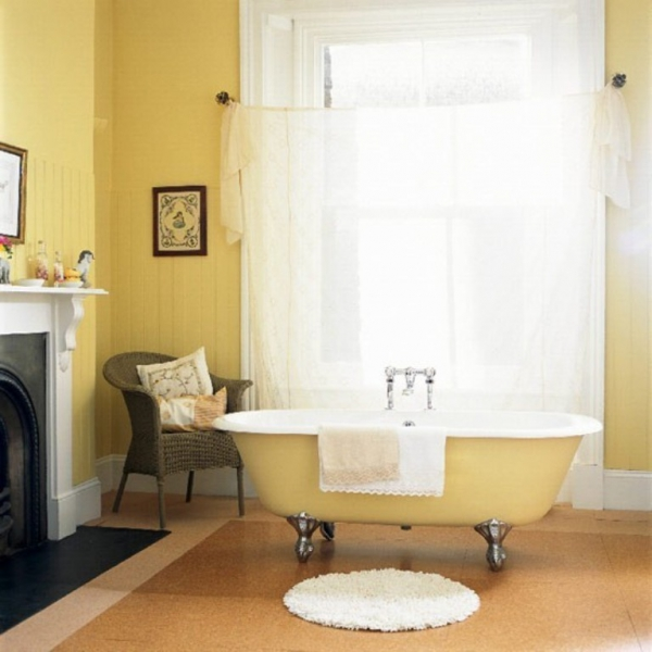 ... Beautiful Yellow Bathroom Designs (8) ...